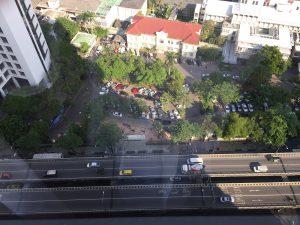 クラウンプラザホテルからのバンコク市内風景