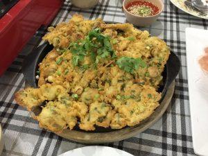 カキの油揚げ タイ料理