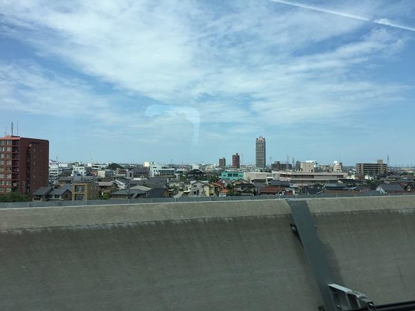 東京へ帰りの北陸新幹線車中から