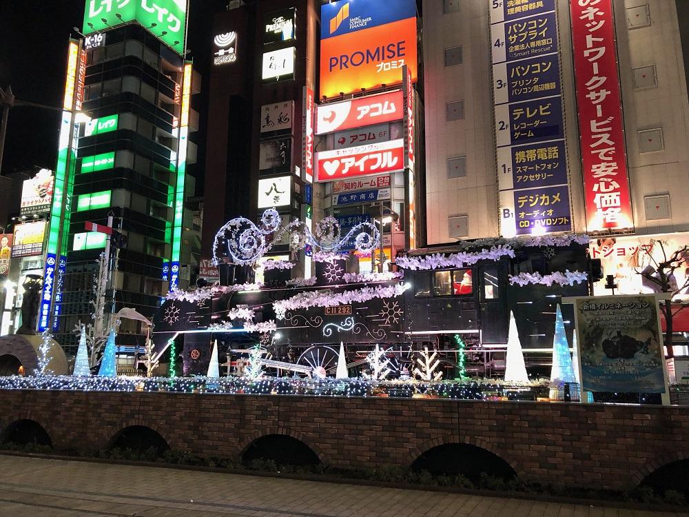 JR新橋駅前SL広場 2017 新橋クリスマスイルミネーション