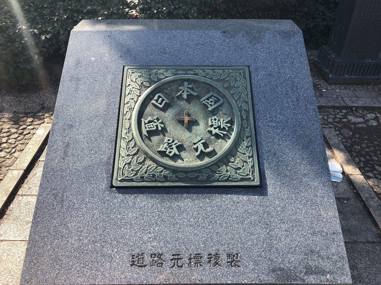 「東京市道路元標」(とうきょうしどうろげんぴょう)