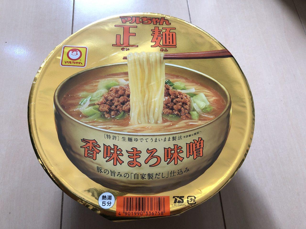 マルちゃん正麺カップ 「香味まろ味噌」