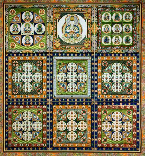 マンダラという言葉は円を意味するサンスクリット語に由来しています。 マンダラの根源は中心にあり、この中心は、力、エネルギー、知恵、生命の源の象徴です。