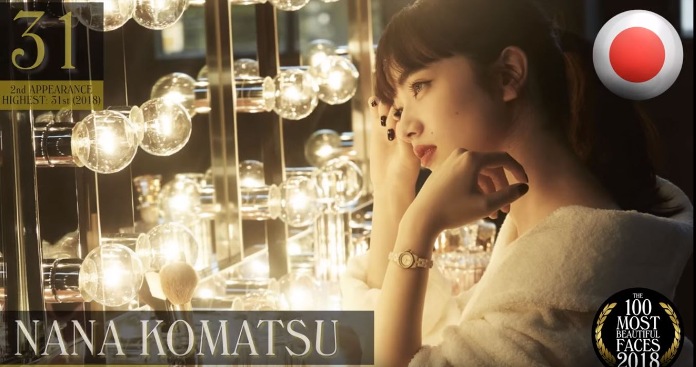 世界で最も美しい顔ベスト100 (2018年版) 31位:小松菜奈:日本 女優/モデル 22歳