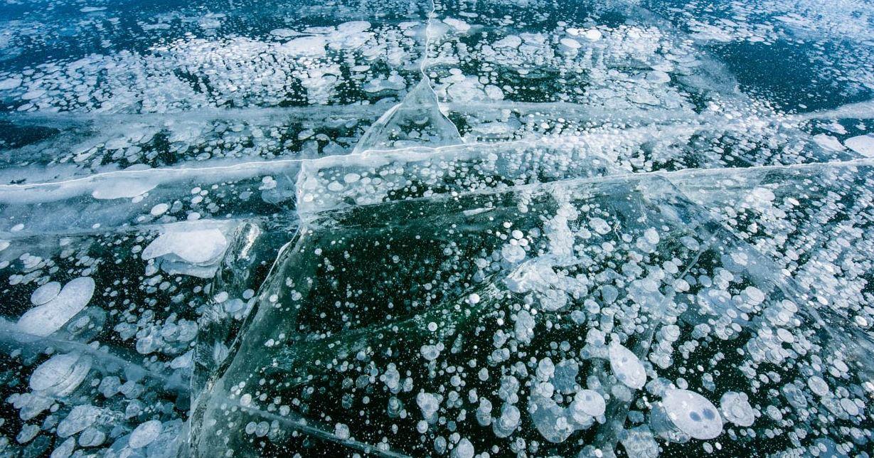 【神の御業】 北海道・十勝・上士幌町・糠平湖に出現した氷アート「しぶき氷」「アイスバブル」「御神渡り」 世にも珍しい自然現象