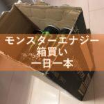 モンスターエナジーの箱買いは、カフェインの取り過ぎに要注意、一日一本を厳守!