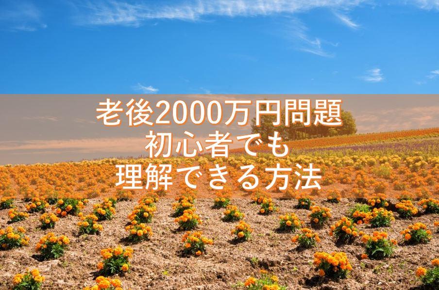 老後2000万円問題を初心者でもわかりやすく理解できる方法